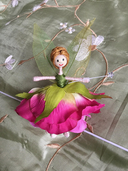 Rose Flower Fairy Doll