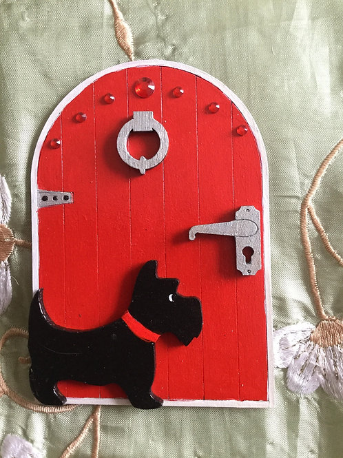 Fairy Door With Scottie