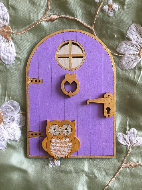 Basic Fairy Door With Window & Owl