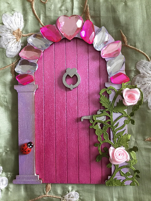 Royal Fairy Door With Crystal Arch