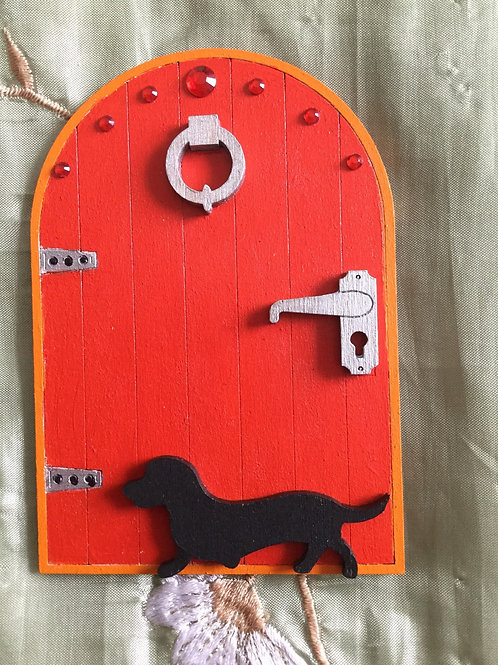 Fairy Door With Dachshund