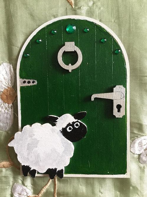 Fairy Door With Sheep