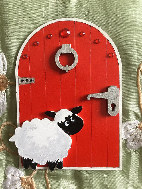 Fairy Door With Sheep