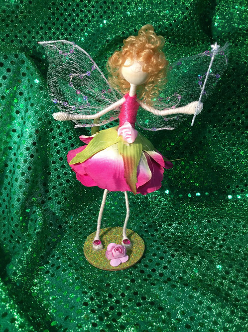 Aurora - Rose Clan - Small Standing Fairy