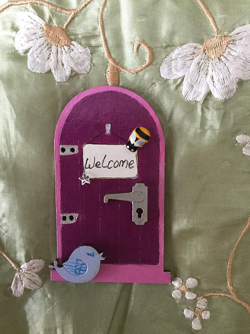 Mini Fairy Door With Bird & Bee