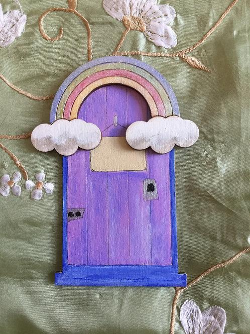 Rainbow Bridge Fairy Door - Lilac