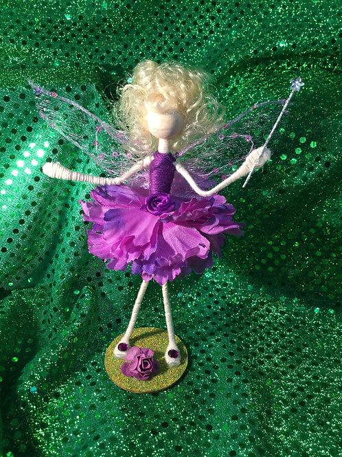 Doris - Carnation Clan -Small Standing Fairy
