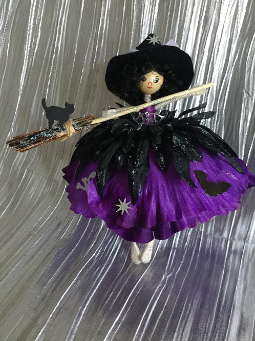 Large Purple & Black Halloween Fairy