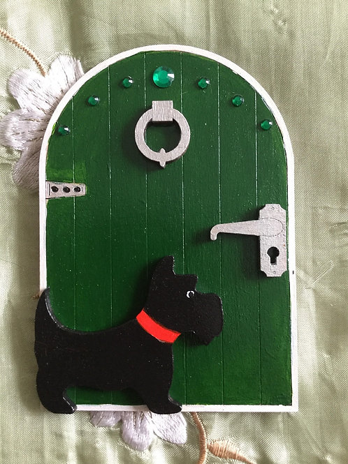 Fairy Door With Scottie Dog