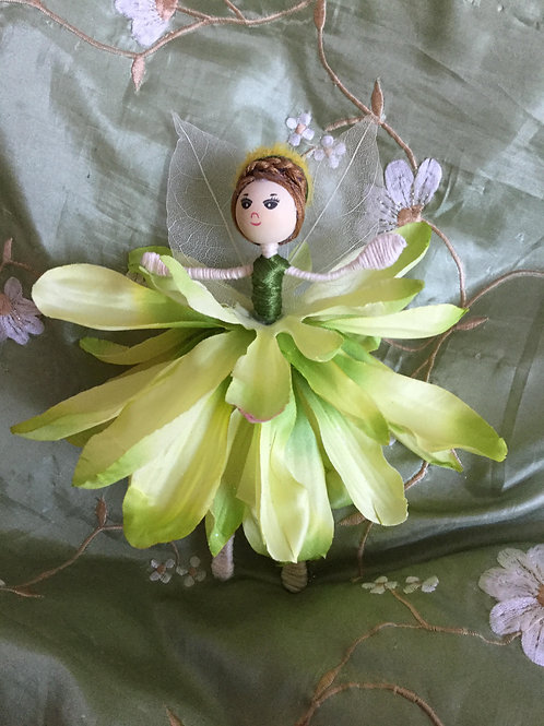 Large Dahlia Flower Fairy Doll