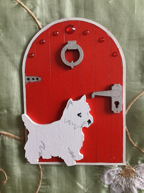 Fairy Door With Westie