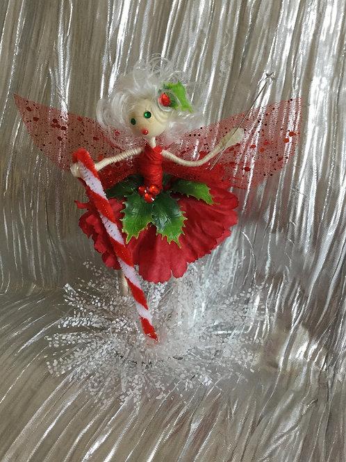 Christmas Holly Fairy - Candy Cane