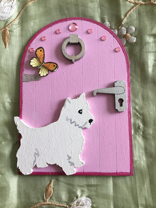 Fairy Door With Westie & Butterfly