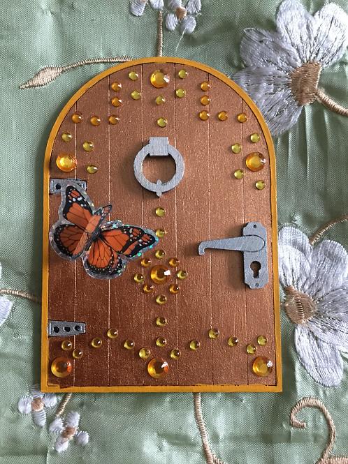 Basic Fairy Door Metallc Gold