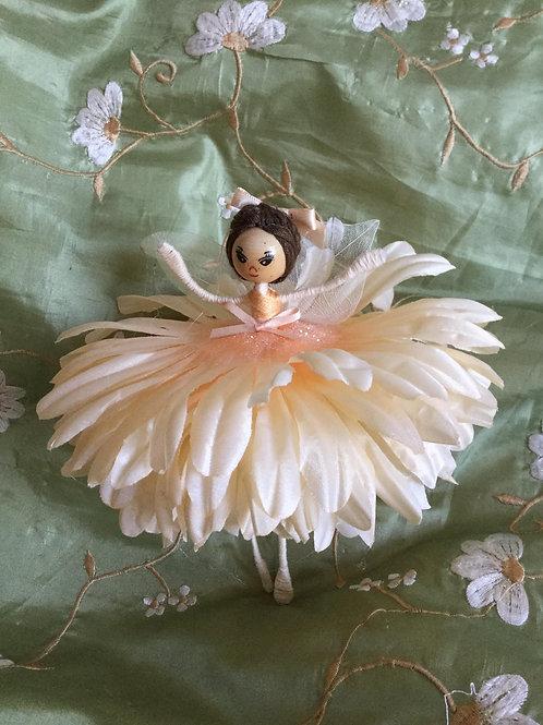 Large Chrysanthemum Flower Fairy Doll - Peach