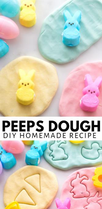 Easter Peeps Playdough Recipe _ Little B