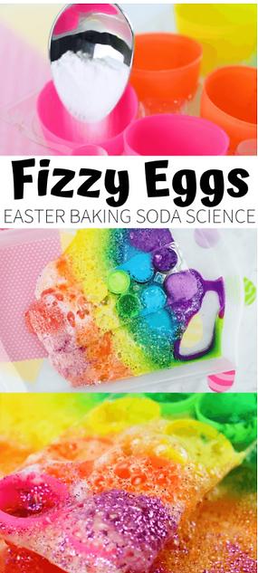 Baking Soda And Vinegar Rainbow Easter E