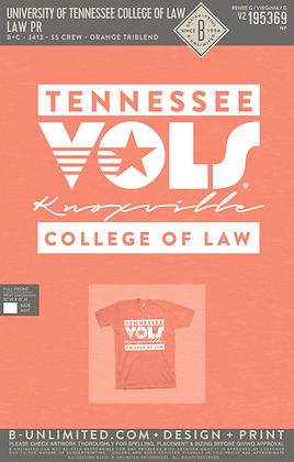 Bella Canvas Tri-Blend Orange Retro Vols T-Shirt