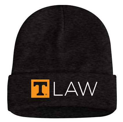 T-Law Embroidered Charcoal Beanie