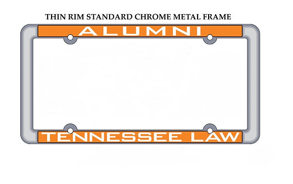Tennessee Law Alumni License Plate Frame