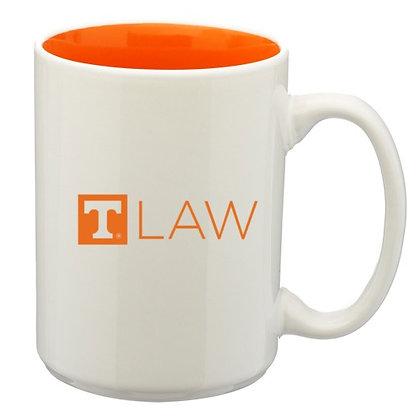 15oz White Mug with Orange Interior