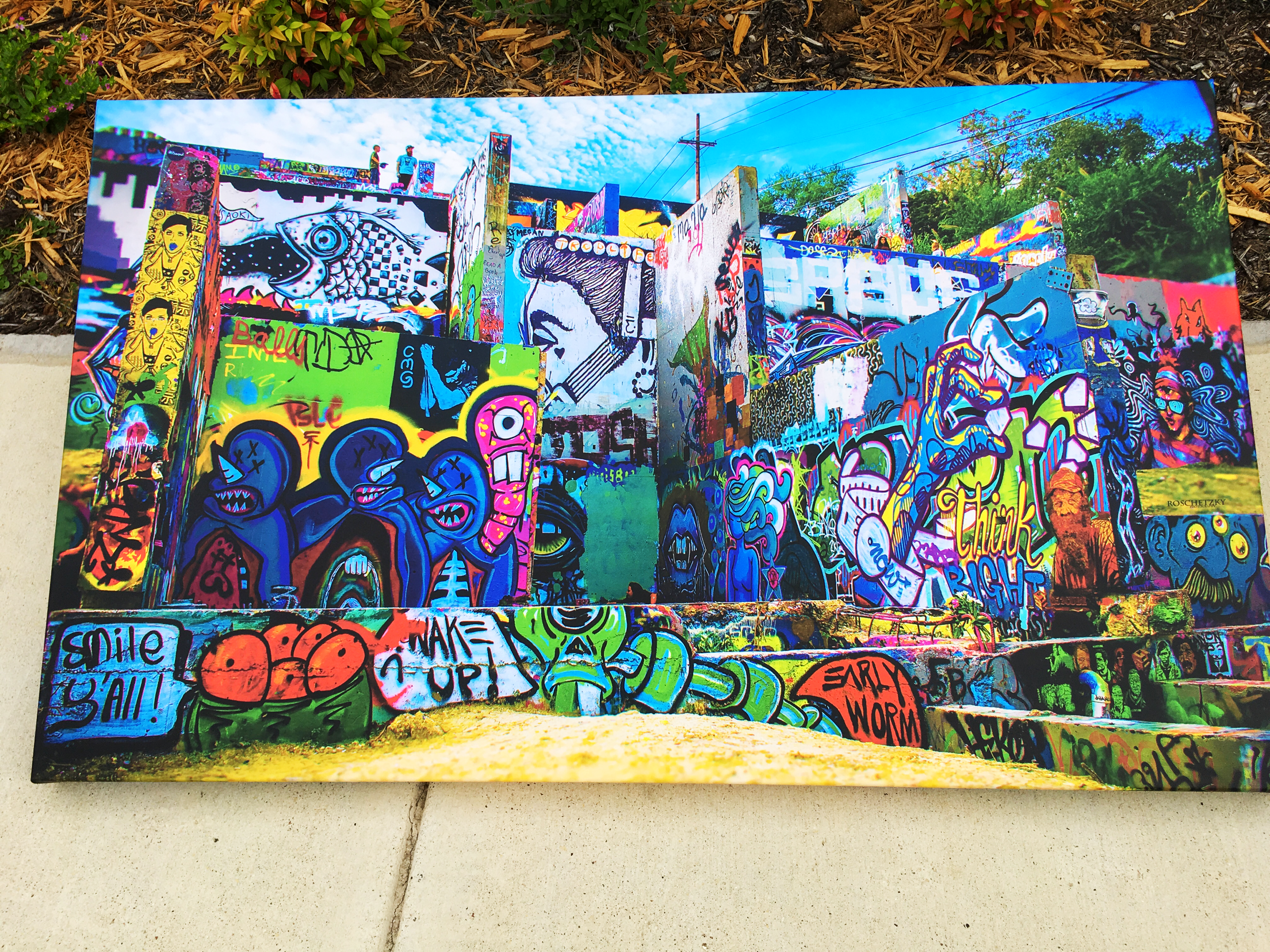 Fine Arts Photograhy At Austin Graffiti Wall Hope Outdoor Art Galery