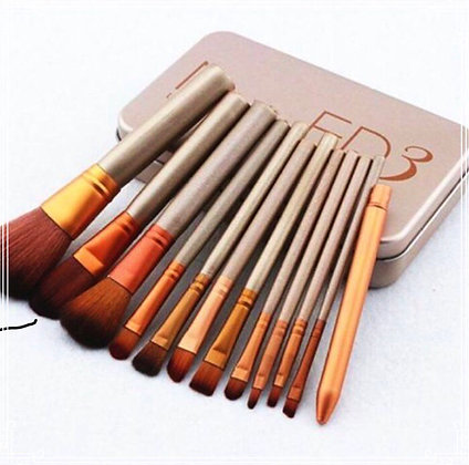 RTB Glitter Handle Makeup Brushes (set of 12)