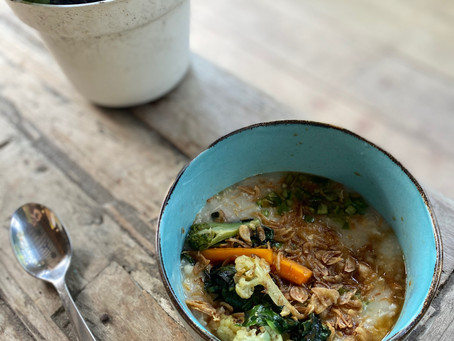 Chicken Congee Recipe for the Soul (Vegan Option)