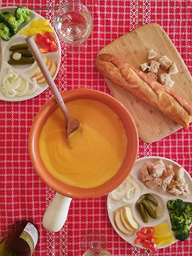 vegan kaasfondue plantaardige kaas fondue kerst sinterklaas