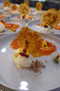 vegan dessert veandessert kletskop vegankletskop viool eetbare bloemen