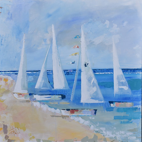 """August Tides"" 8x8 print"