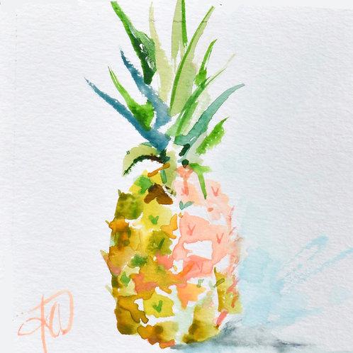 Tropical Pineapple 12x12 print
