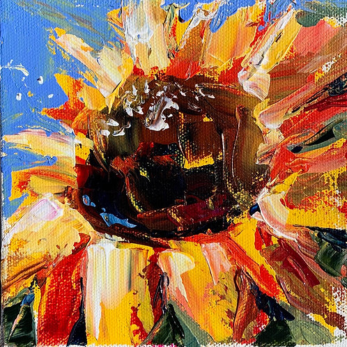 "6x6 ""Sunflower Duo"" Set ($80 for the set/$45 individually)"