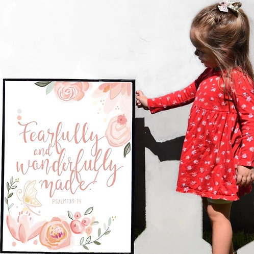 """Fearfully and Wonderfully Made"" print"
