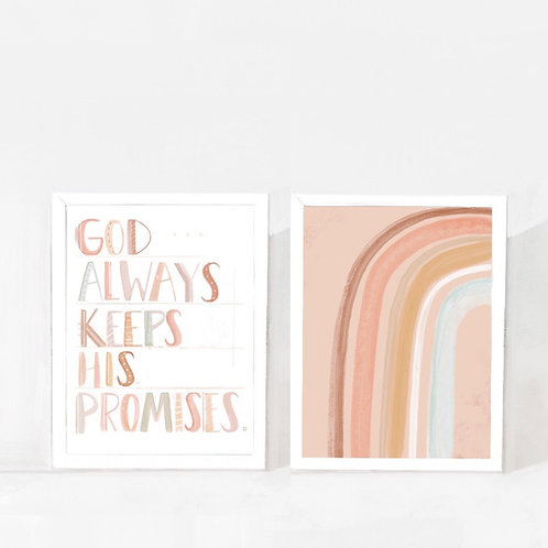 Rainbow Promises Duo Print Set