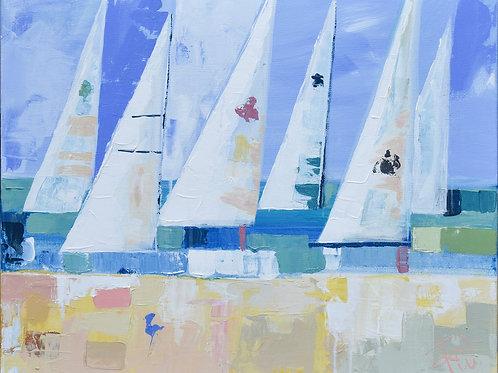 """Charleston Harbor"" 18x24 original painting on canvas"