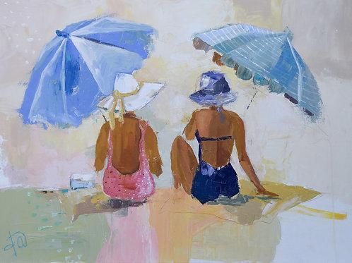 """Gladys and Ethel take to the Sea"" 18x24 original"