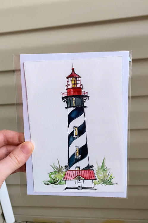 St. Augustine Lighthouse Original Mini (fits a 5x7 floating frame)