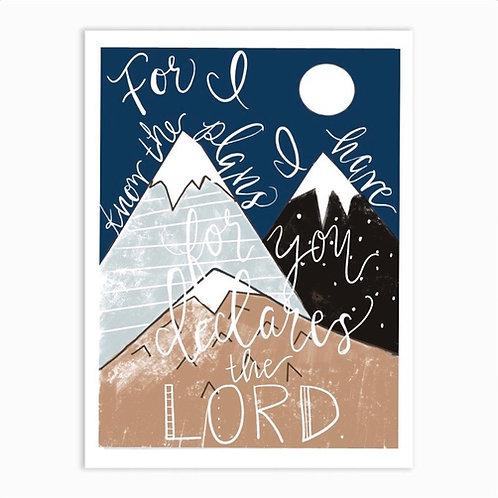 Jeremiah 29:11 Original art Print