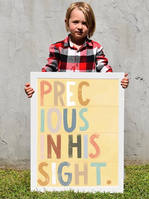 """Precious in His Sight"" print"