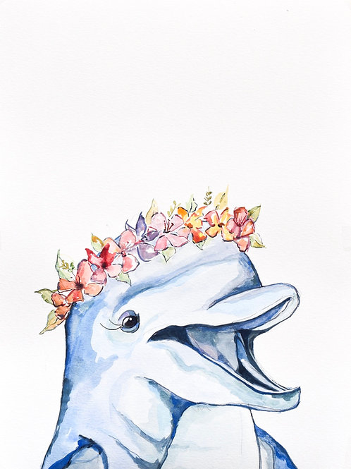 Sea Life Collection Dolphin 5x7 matted or 8x10 unmatted print