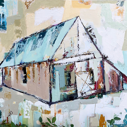 """Heavenly Treasures"" rustic farmhouse 12x12 print"