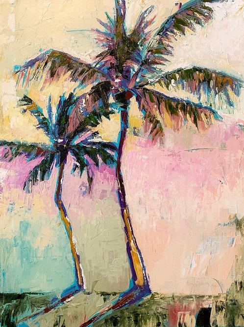 """""""Palm Breeze"""" original 8x10 print"""