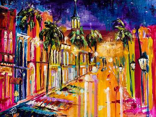 """King Street Nights"" 5x7 matted or 8x10 unmatted print"