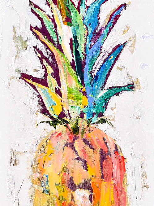 """""""Pineapple Sunday"""" 5x7 matter or 8x10 unmatted print"""