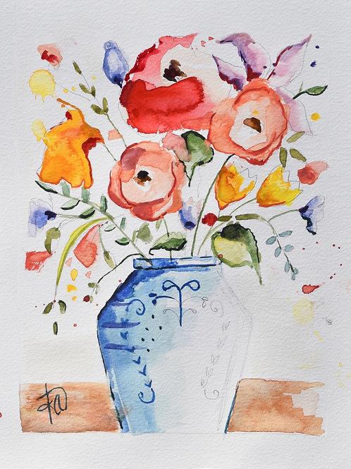 """Choose Joy"" 8x10 watercolor original"