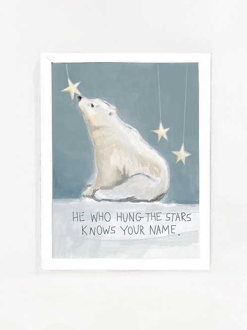 He Knows Your Name Polar Print