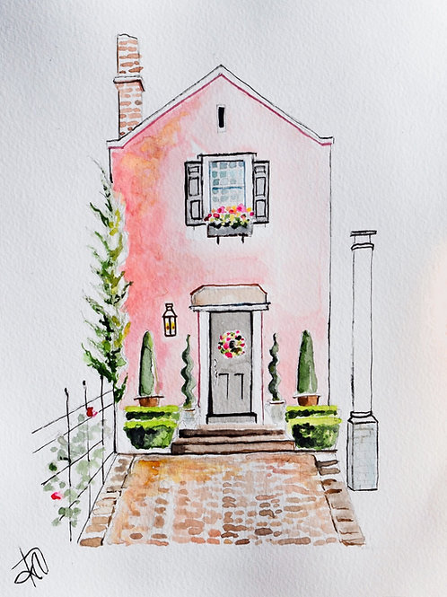 """Pretty in Pink"" 8x10 original Charleston Fancy Collection"