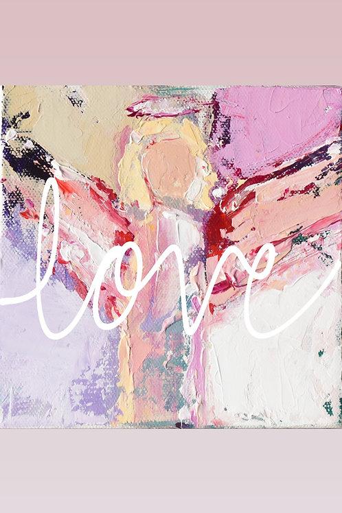Affirmation Angel Prints 12x12 LOVE, PEACE, JOY, NOEL, FAITH, HOPE)