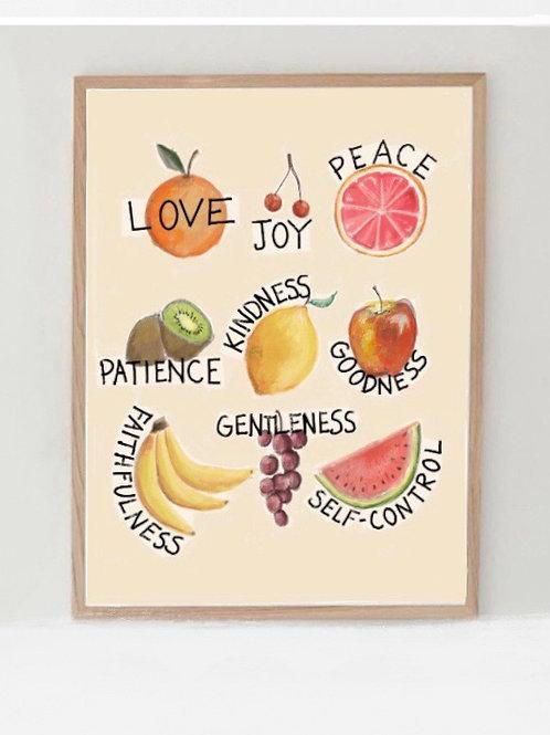 Fruits of the Spirit wall art
